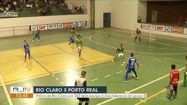 Em jogo de poucos gols, Rio Claro vence a primeira ao bater Porto Real por 2 a 1 - Vitória leva equipe à vice-liderança do grupo D, com quatro pontos.