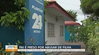 Pai é preso suspeito de abusar da filha de 11 anos - Garota contou os abusos para professora.