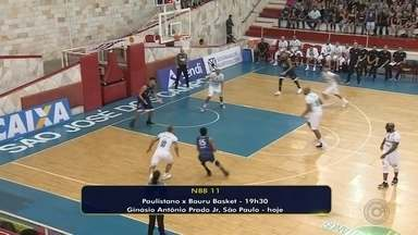 Bauru Basket enfrenta o Paulistano pelo NBB - A equipe de Bauru encara o Paulistano nesta quinta-feira, às 19h30, no ginásio Antônio Prado Júnior, em São Paulo, pela 25ª rodada do Novo Basquete Brasil 11 (NBB).