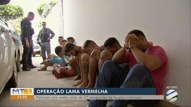 Polícia Civil faz operação para prender 27 integrantes de célula de facção criminosa - Polícia Civil faz operação para prender 27 integrantes de célula de facção criminosa.
