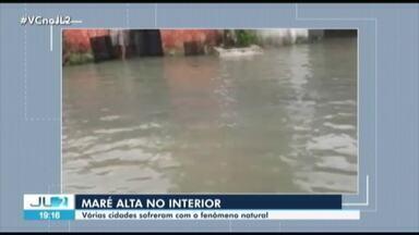 Maré alta e chuva forte deixa ruas alagadas no interior do Pará - Jornal Liberal