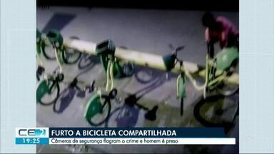 Homem é preso ao tentar furtar bicicletas compartilhadas - Ladrão foi flagrado pelas câmeras de videomonitoramento e polícia chegou bem na hora