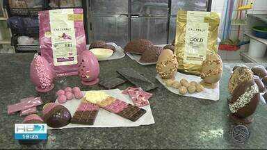 Produção de ovos de chocolate gera emprego em Garanhuns - Desde janeiro a produção vem está sendo feita para época da Páscoa.