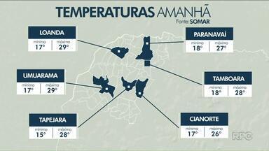 O tempo continua instável no Noroeste - As temperaturas ficam amenas nesta sexta-feira.
