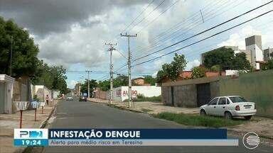 Alerta para risco médio de infestação de dengue preocupa teresinenses - Alerta para risco médio de infestação de dengue preocupa teresinenses
