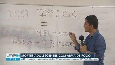 Mais de 480 crianças e adolescentes morreram entre 1997 e 2016 no AP por arma de fogo - Dados são da Sociedade Brasileira de Pediatria e se referem a faixa-etária entre 0 e 19 anos.