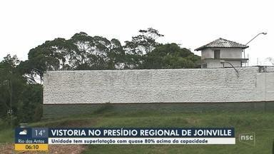 Vistoria em presídio de Joinville constata superlotação de presos - Vistoria em presídio de Joinville constata superlotação de presos