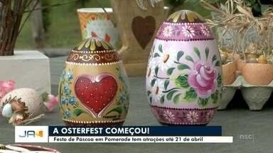 Começa a tradicional Osterfest em Pomerode - Começa a tradicional Osterfest em Pomerode