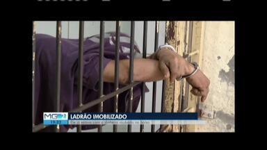 Proprietária de restaurante impede furto e imobiliza assaltante em Valadares - Segundo a proprietária, os assaltos na Ilha dos Araújos aumentaram desde que a base as Polícia Militar foi retirada do bairro; assaltante tem passagem pela polícia por furto e roubo.