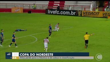 Altos perde para o Náutico e dá adeus à classificação na Copa do Nordeste - Altos perde para o Náutico e dá adeus à classificação na Copa do Nordeste