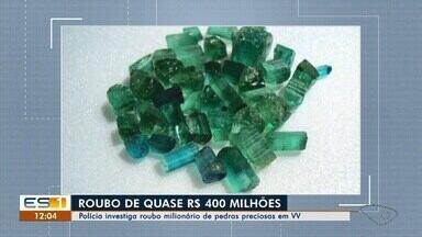 Polícia investiga roubo milionário de pedras preciosas em Vila Velha, ES - Caso aconteceu na sexta-feira (22).