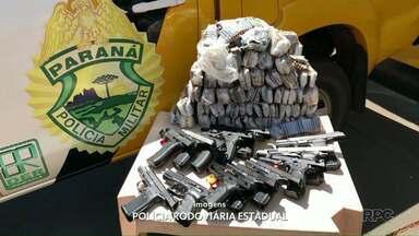 Policiais apreendem pistolas e munições de fuzil em Peabiru - Foram apreendidas 13 pistolas e mais de 5 mil munições de fuzil.