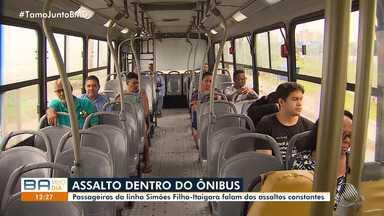 Passageiros reclamam de assaltos constantes na linha Simões Filho-Itaigara - Os usuários do transporte viajam com medo.