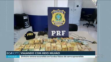 Motorista de 41 anos é preso com meio milhão de reais escondido nas laterais do carro - O carro e o dinheiro foram encaminhados à polícia Federal em foz do Iguaçu.