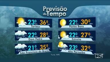 Veja as variações das temperaturas no Maranhão - Confira a previsão do tempo nesta terça-feira (26) em São Luís e também no interior do estado.