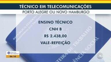 Veja vaga de emprego para Técnico em Telecomunicações em Porto Alegre e Novo Hamburgo - Confira a oportunidade.
