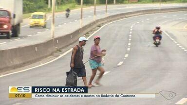Número de acidentes cai na Rodovia do Contorno, na Grande Vitória - Acidentes mais graves deixaram mais mortos e feridos.
