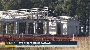 Depois de cinco anos, obras do aeroporto de Cascavel são retomadas - Obras devem custar R$ 16,3 milhões.