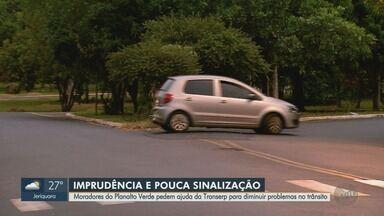Imprudência e pouca sinalização preocupa moradores do Planalto Verde em Ribeirão Preto, SP - Eles pedem ajuda da Transerp para diminuir problemas no trânsito na região.