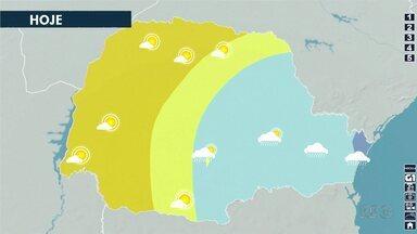 Terça-feira (26) será ensolarada no norte do estado - Mas há previsão de chuva para amanhã.