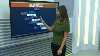 Confira as vagas de emprego para Cascavel e Toledo - Interessados devem procurar as agências de cada cidade.