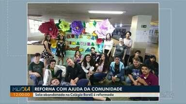 Com ajuda da comunidade, sala abandonada em colégio de Ponta Grossa é reformada - Pais, alunos, e funcionários juntaram dinheiro através de bazares e festas.