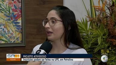 UPE abre isncrições para projeto 'Atividoso' em Petrolina - Os encontros envolvem oficinas de desenho, música e fotografia.