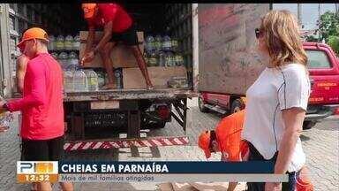 Mais de mil famílias são atingidas pelas cheias em Parnaíba - Mais de mil famílias são atingidas pelas cheias em Parnaíba