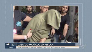 'Maníaco da Peruca' e testemunhas participam de audiência sobre crimes em série - Flávio do Nascimento Graça foi preso em novembro de 2018. Audiência acontece na tarde desta terça-feira (26) em Santos.
