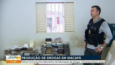 Cerca de 90 quilos de drogas e 3 armas são apreendidos em laboratório clandestino, no A - Maconha, crack e cocaína estavam entre material encontrado nesta segunda-feira (25), no bairro Jardim Felicidade 2, Zona Norte de Macapá.