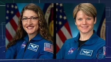 NASA cancela primeira caminhada espacial só de mulheres - Motivo é que não há dois trajes espaciais de tamanho médio na Estação Internacional