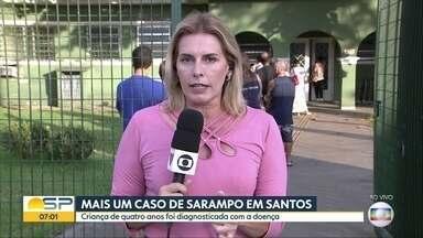 Mais um caso de sarampo em Santos - Criança de quatro anos foi diagnosticada com a doença