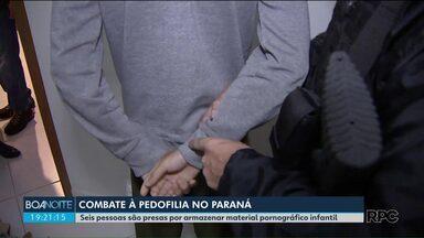 Seis pessoas são presas por armazenamento de material com pornografia infantil no Paraná - A operação contra a pedofilia foi realizada simultaneamente em todo o país.