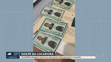 Quadrilha alugava carros de locadoras no Aeroporto Internacional e revendia - A polícia prendeu uma quadrilha que falsificava cartões de crédito para roubar carros de locadoras do Aeroporto Internacional do Rio.