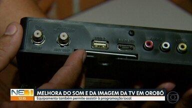 Feirão em Orobó oferece receptores digitais com desconto e tira dúvidas da população - Evento no Agreste do estado conta com a participação da equipe de tecnologia da TV Globo.