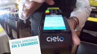 Cielo Flash aprova a venda em 3 segundos - Ela tem 3G e Wi-Fi, para garantir mobilidade e sinal sempre.
