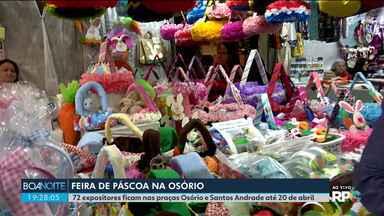 Praças de Curitiba têm feirinha de Páscoa - São 72 expositores de diversos produtos.
