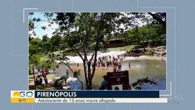 Adolescente morre ao se afogar no Rio das Almas, em Pirenópolis - Vídeo mostra o resgate do garoto.