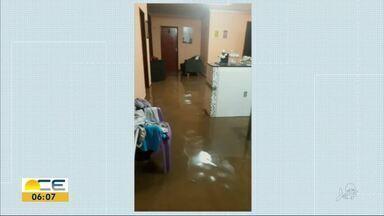 Chuva causa alagamentos em Frecheirinha - Casas foram invadidas pela água e uma ponte rachou.