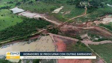 Rompimento de barragens em Rondônia - Dezenas de famílias estão isoladas por causa da queda de pontes