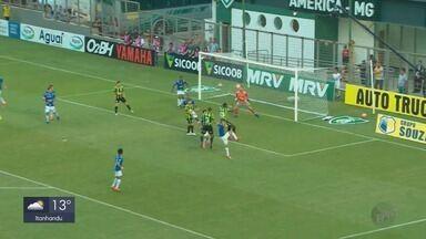 Cruzeiro vence América-MG por 3 a 2; Fred marca três - Cruzeiro vence América-MG por 3 a 2; Fred marca três
