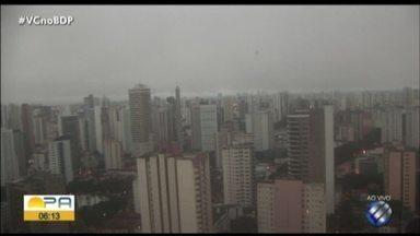 Confira a previsão do tempo em Belém e no interior do estado nesta segunda-feira, 1 - Previsão do tempo.