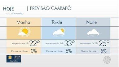 MS tem previsão de chuva nesta semana - De acordo com a meteorologia, um sistema de baixa pressão que já está na região do Paraguai deve aumentar as áreas de instabilidade.