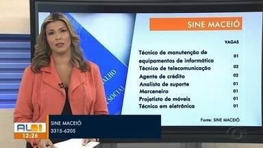 Confira as vagas de emprego disponíveis no Sine Maceió - Estão sendo disponibilizadas 22 vagas em diversas áreas.