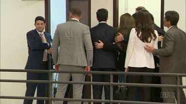 Testemunhas prestam depoimentos em audiências do Caso Daniel - Audiência foi realizada no Fórum de São José dos Pinhais.