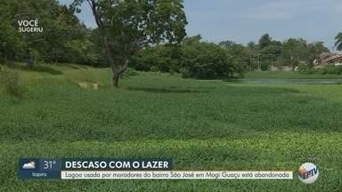 Lagoa usada por moradores do bairro São José, em Mogi Guaçu, está abandonada - População reclama com a Prefeitura sobre falta de preservação do local.