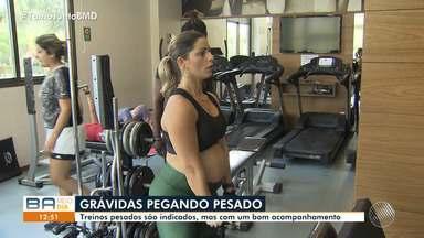 Exercícios físicos são recomendados para mulheres que estão no período de gravidez - Treinos são indicados, mas é preciso um bom acompanhamento.