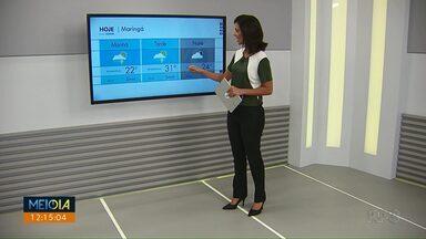 O fim de semana vai ser chuvoso na região de Maringá - Frente fria pode causar temporais no oeste do estado.