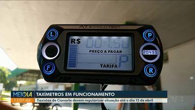 Taxistas de Cianorte podem ser punidos se não usarem taxímetro - Eles tem até o dia 15 de abril para regularizar a situação.