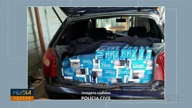Polícia apreende armas falsas e cigarros contrabandeados em operação em Ponta Grossa - Ação da Delegacia da Mulher ocorreu na manhã desta sexta-feira (5).